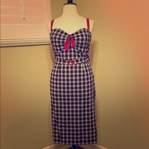Plus size 1940's inspired pinup Dress